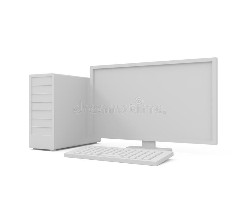 计算机服务器白色 库存例证
