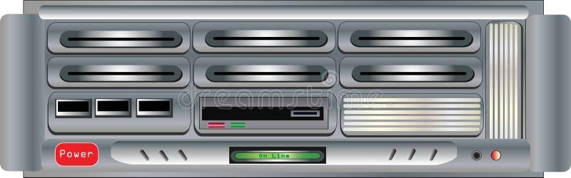 计算机服务器 皇族释放例证