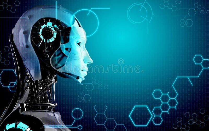 计算机机器人背景 皇族释放例证