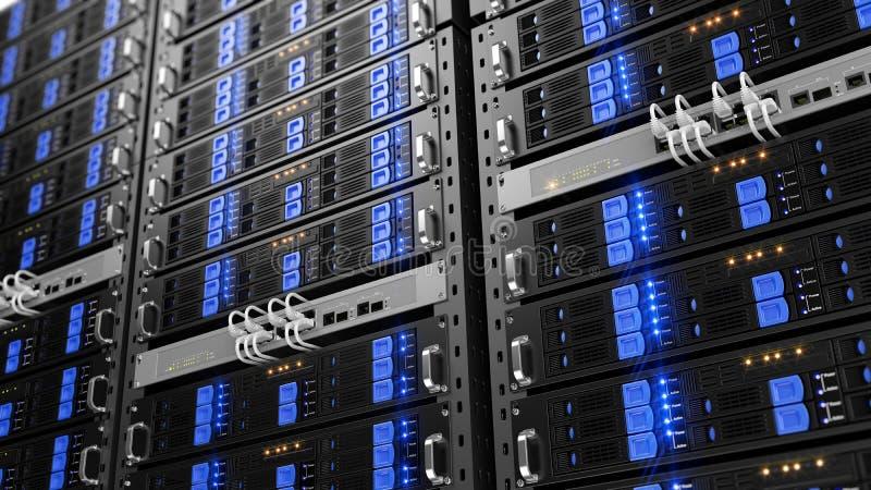 计算机机架服务器 皇族释放例证