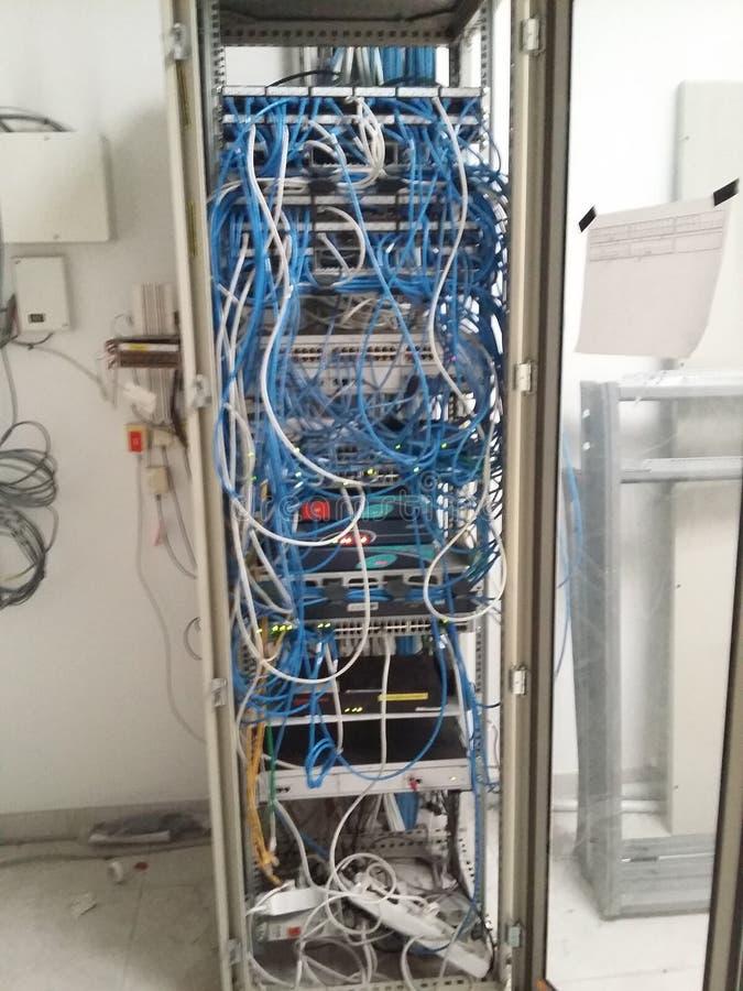 计算机机架混乱 免版税库存照片