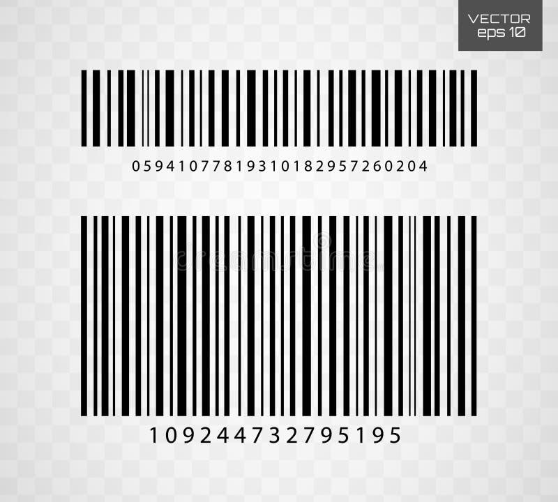 计算机条码象传染媒介例证 库存例证