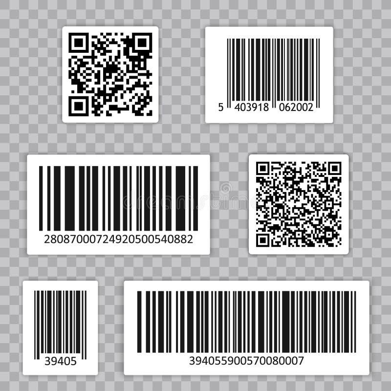 计算机条码集合传染媒介 Qr cide 普遍产品扫瞄码 皇族释放例证
