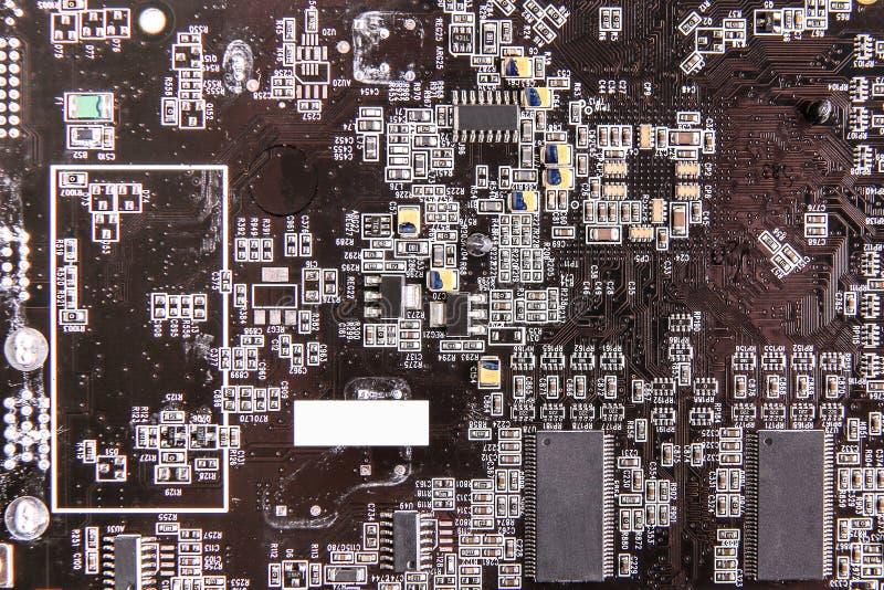 计算机板褐色纹理 库存图片