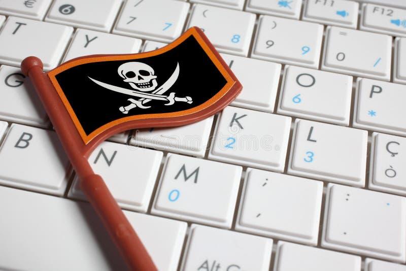 计算机标志关键董事会海盗 图库摄影