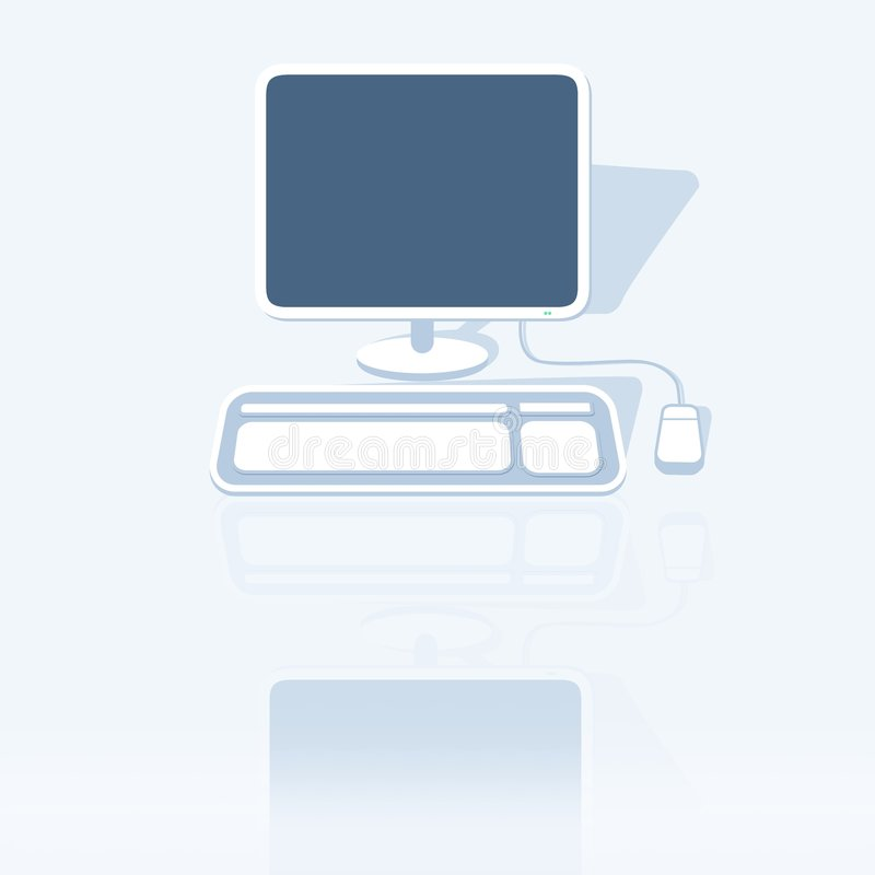 计算机桌面 库存例证