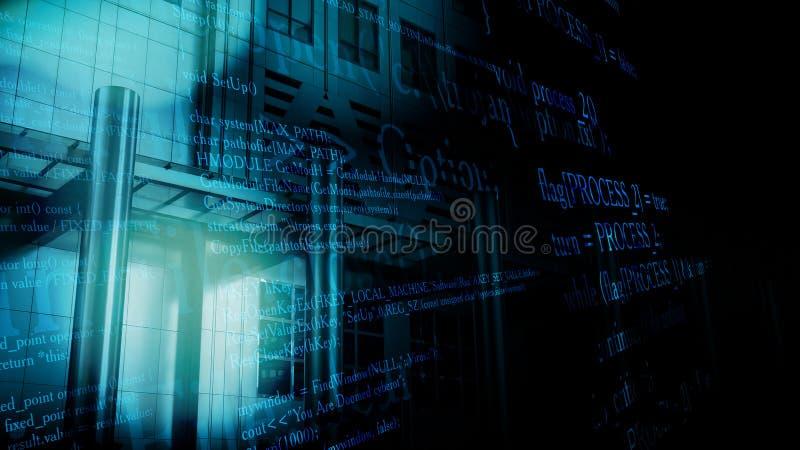计算机特洛伊臭虫攻击办公计算机 库存例证