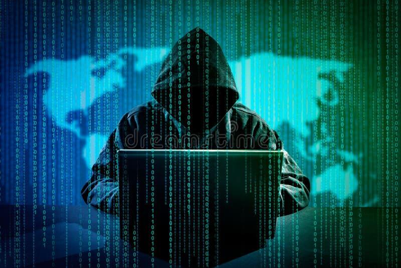 计算机犯罪概念 图库摄影
