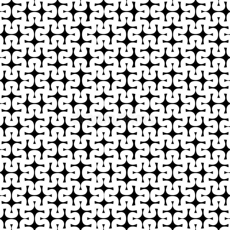 计算机生成的严密的难题编结基于,被概述的单色样式 库存例证