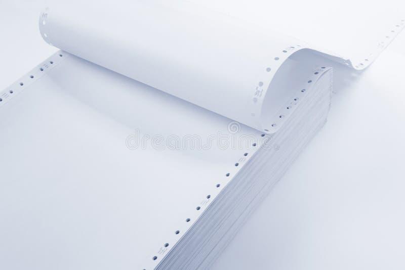 计算机用纸 库存图片