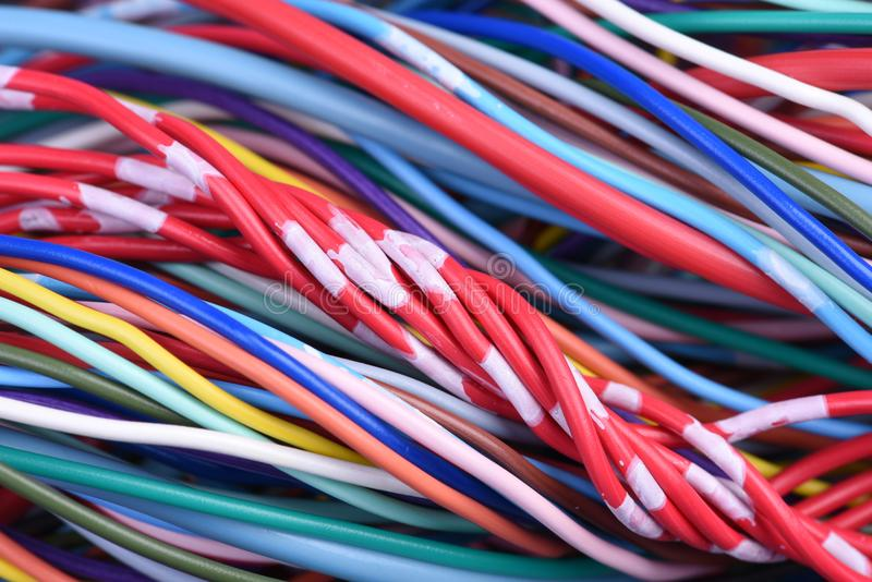 计算机电缆 免版税图库摄影