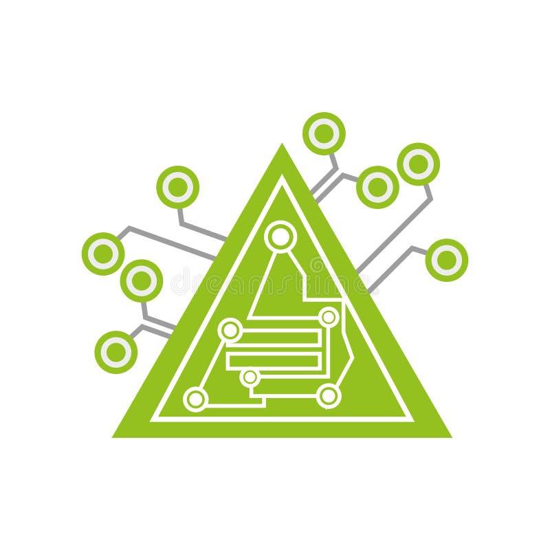 计算机电路三角电子元件 向量例证