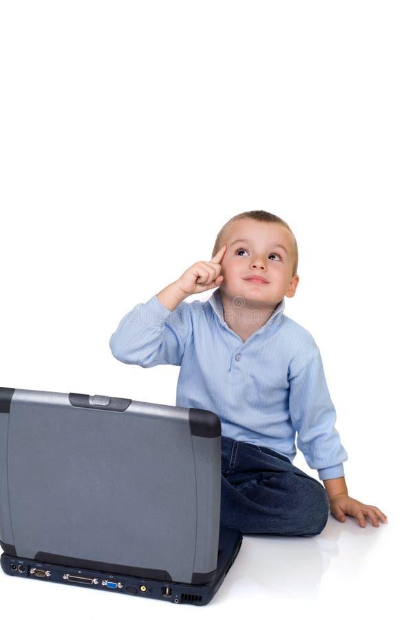 计算机男孩 库存照片