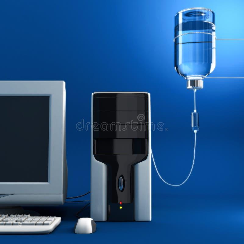 计算机病残 库存例证