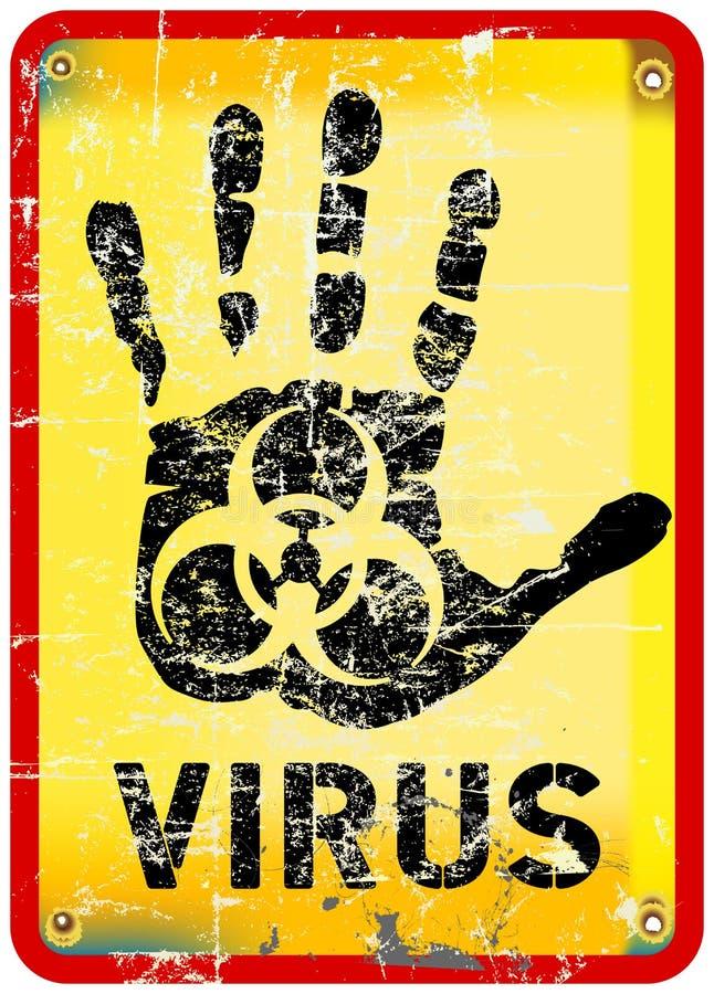 计算机病毒戒备 皇族释放例证