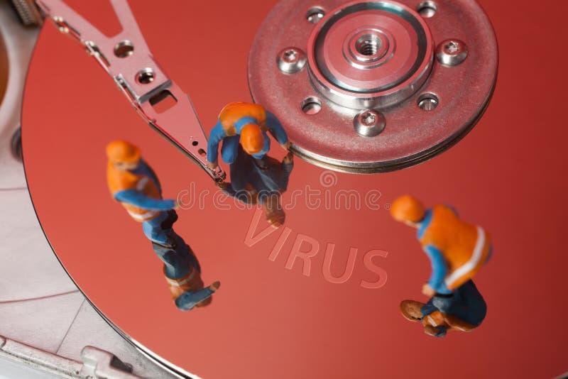 计算机病毒概念 免版税库存照片
