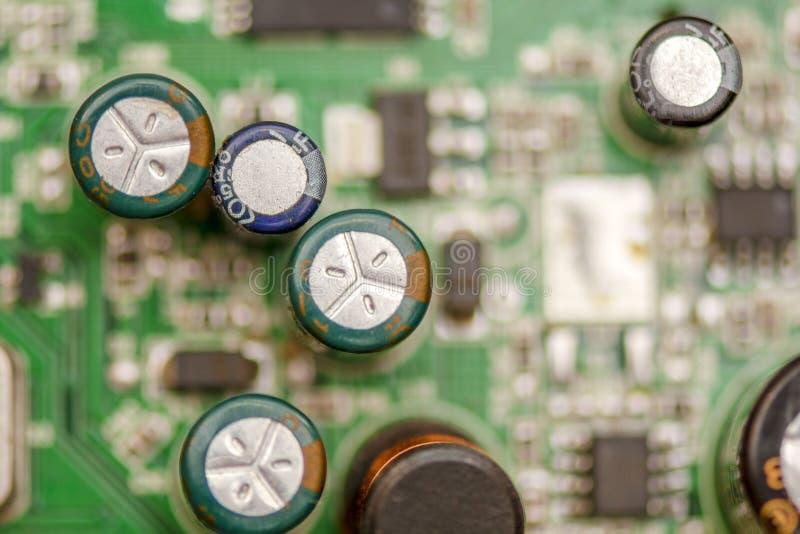 计算机的金属芯片 平的低宏指令 图库摄影
