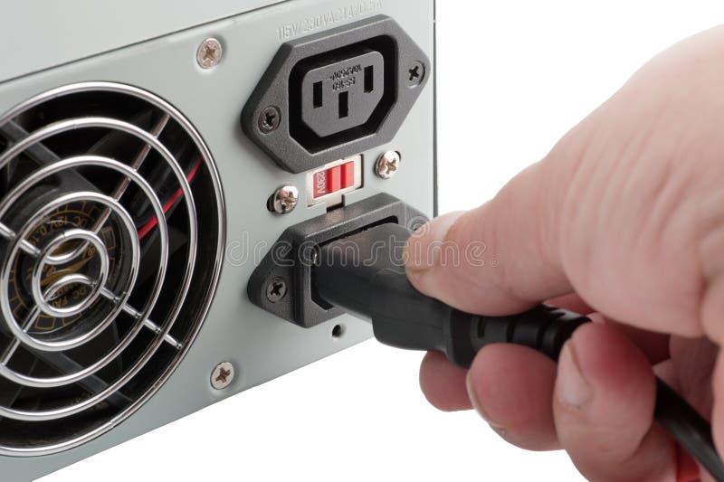 计算机私有电源装置 库存图片