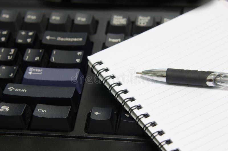 计算机笔记本笔 库存图片