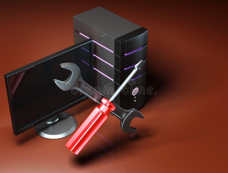 计算机维修服务 皇族释放例证