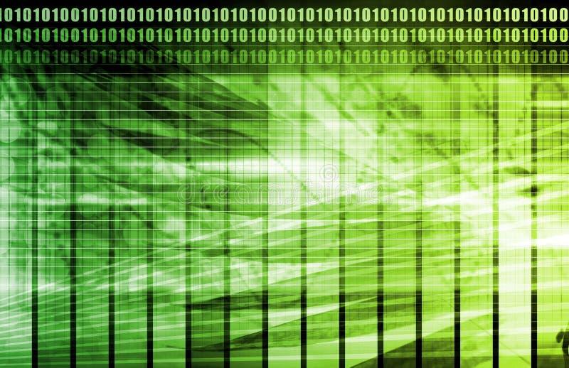 计算机绿色技术 库存例证