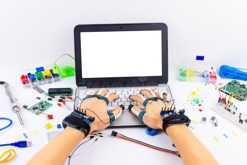 计算机编程微电子学 库存图片
