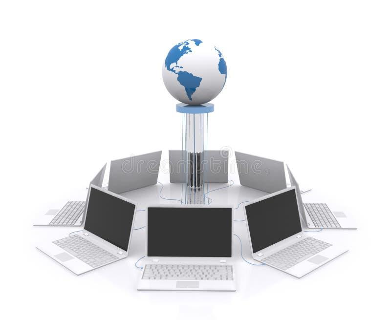 计算机网络。 向量例证