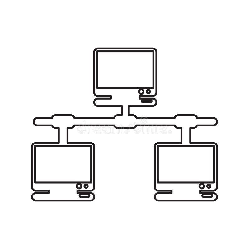 计算机网络象 网络安全的元素流动概念和网应用程序象的 网站设计的稀薄的线象和 皇族释放例证