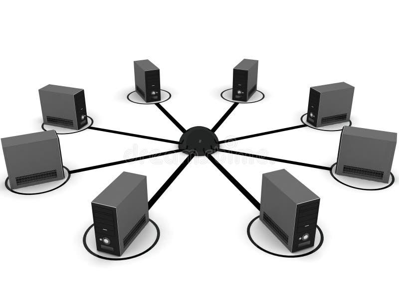 计算机网络连接 库存例证