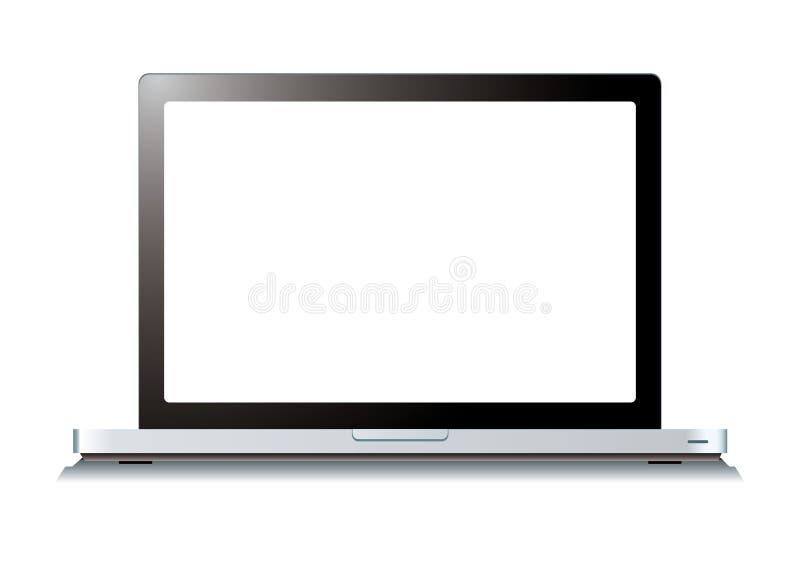 计算机膝上型计算机屏幕白色 皇族释放例证