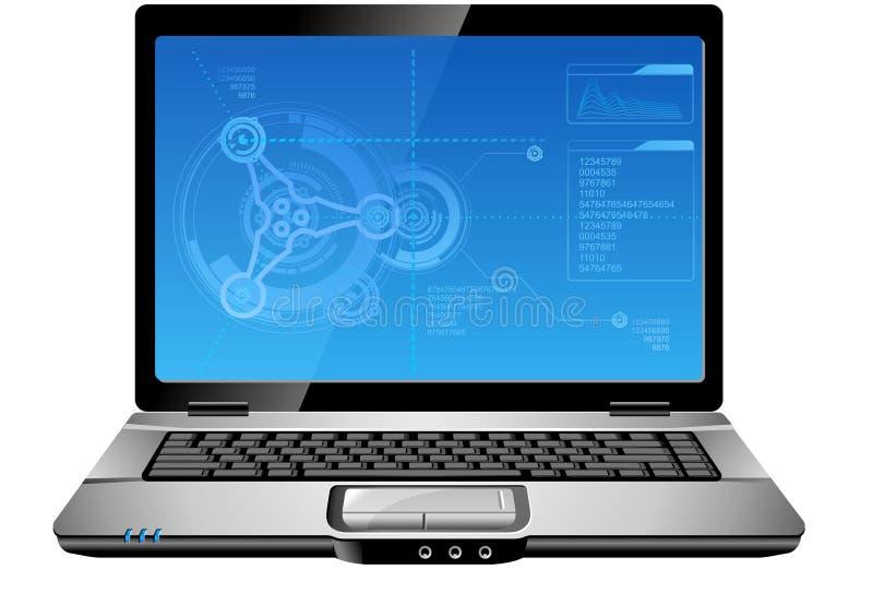 计算机膝上型计算机 向量例证