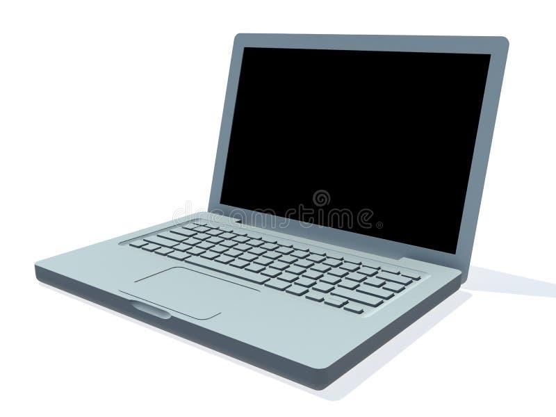 计算机膝上型计算机 皇族释放例证