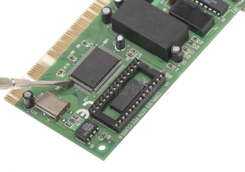 计算机芯片 免版税图库摄影