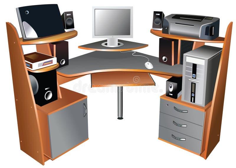 计算机表 皇族释放例证