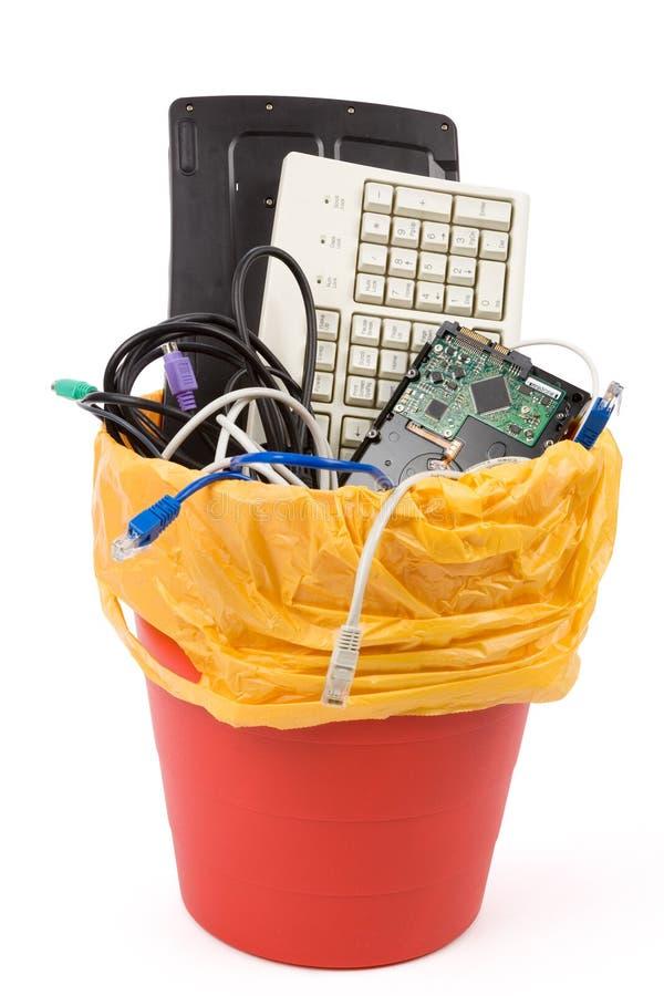 计算机被放弃的硬件 免版税库存照片