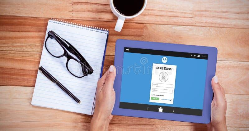 计算机记数器页的综合图象 免版税库存图片