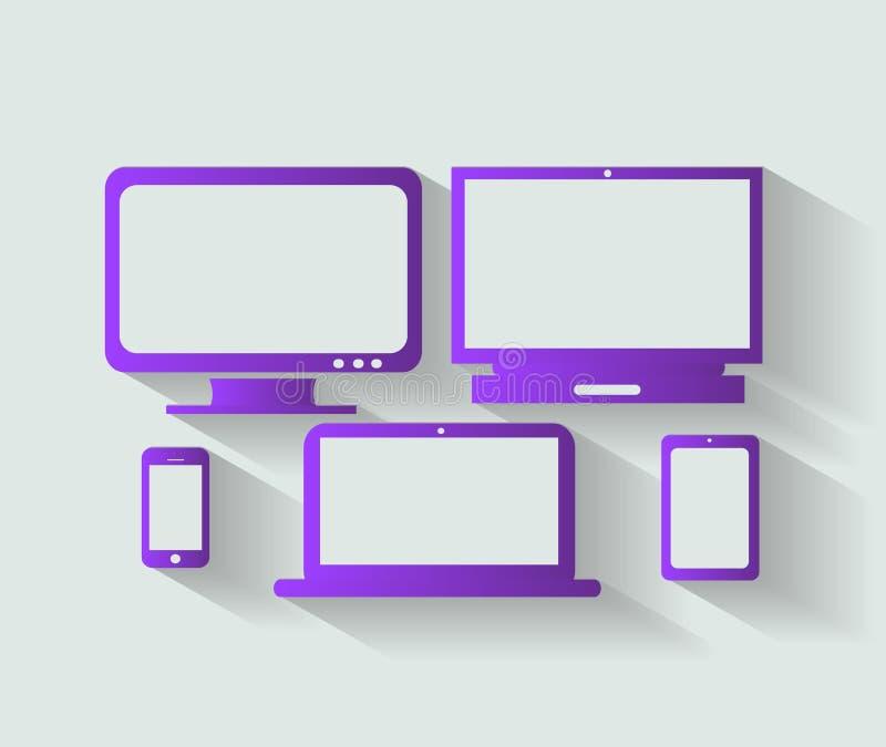 计算机设备象传染媒介 库存例证