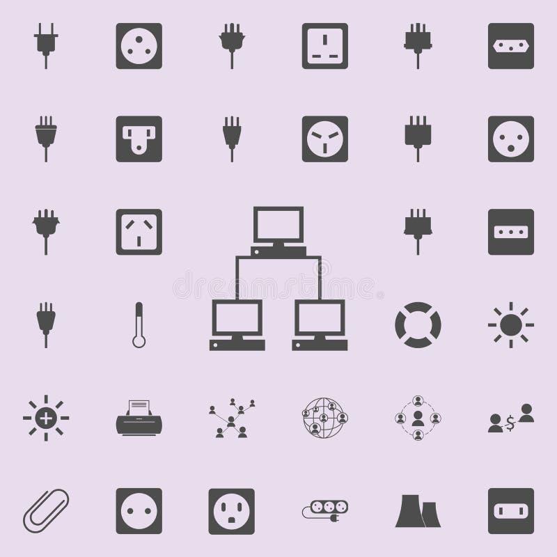 计算机通信象 详细的套minimalistic象 优质质量图形设计标志 一汇集象 向量例证