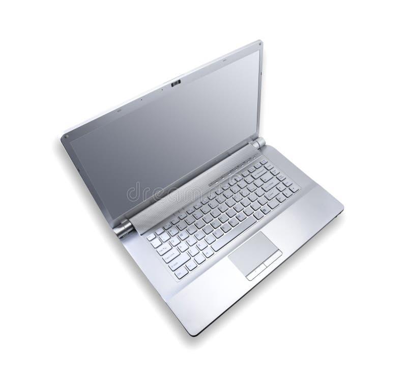 计算机金属笔记本银 库存图片