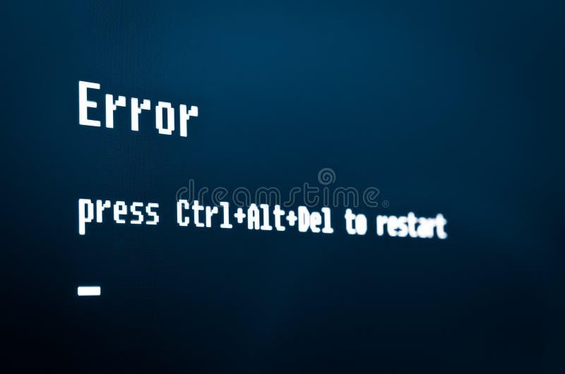 计算机错误消息 免版税图库摄影
