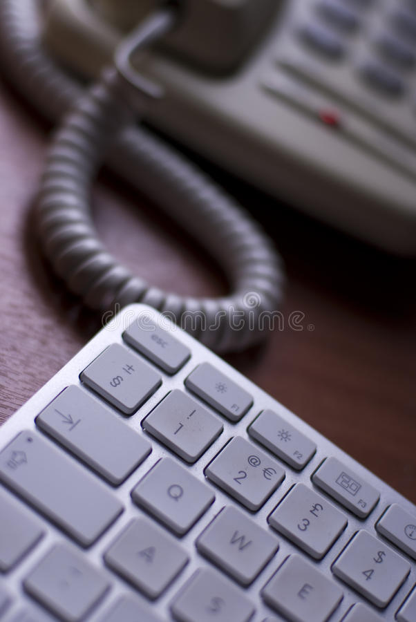 计算机键盘电话 免版税库存照片