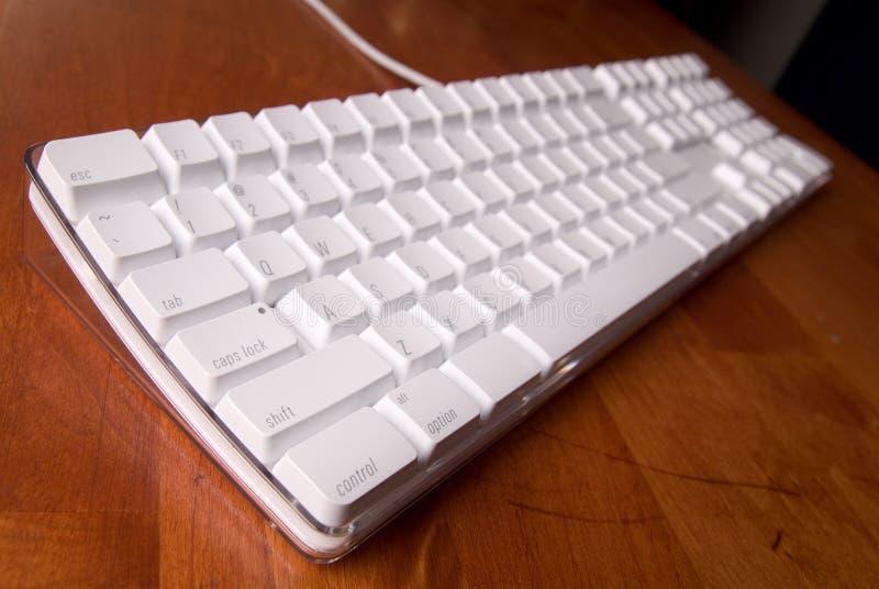 计算机键盘白色 免版税库存照片