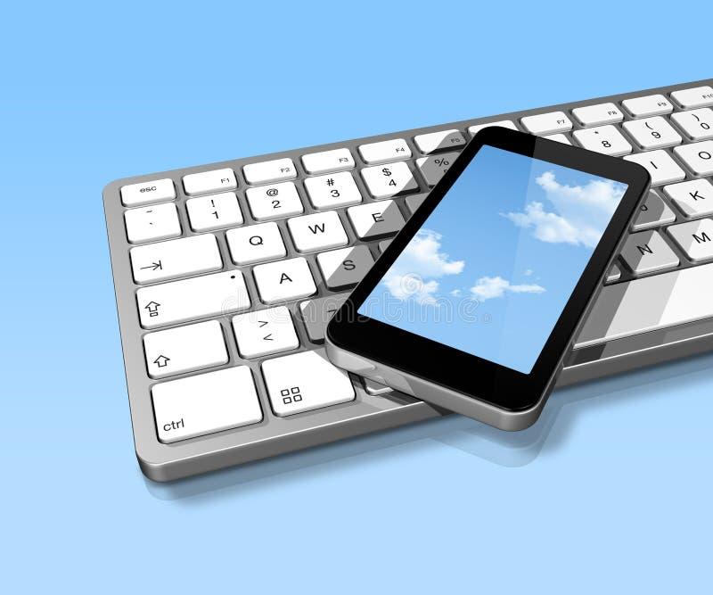 计算机键盘移动电话 库存例证
