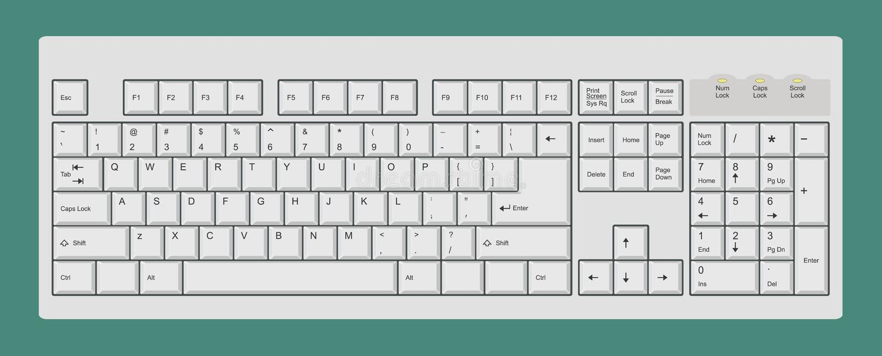 计算机键盘 向量例证