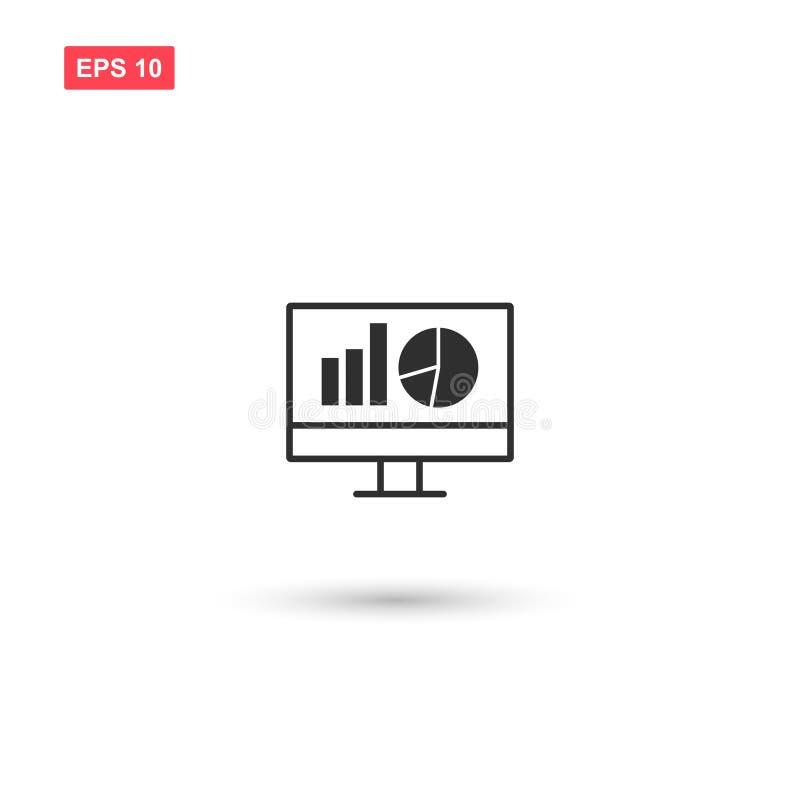 计算机长大传染媒介象的显示器事务隔绝了 皇族释放例证