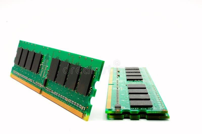计算机随机存取存储器模块的零件 库存照片