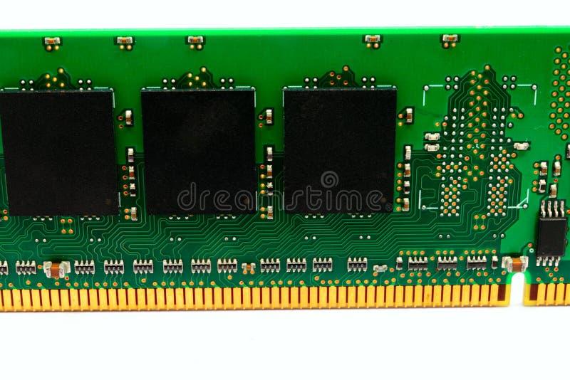 计算机随机存取存储器模块的零件 免版税库存图片
