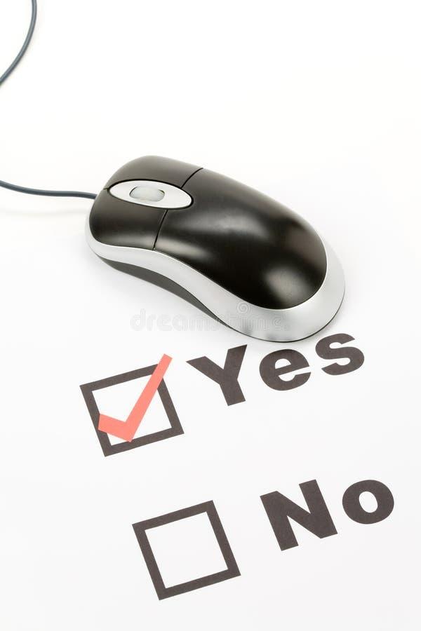计算机鼠标调查表 免版税库存图片