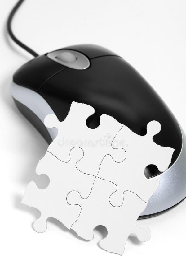 计算机鼠标难题 免版税图库摄影