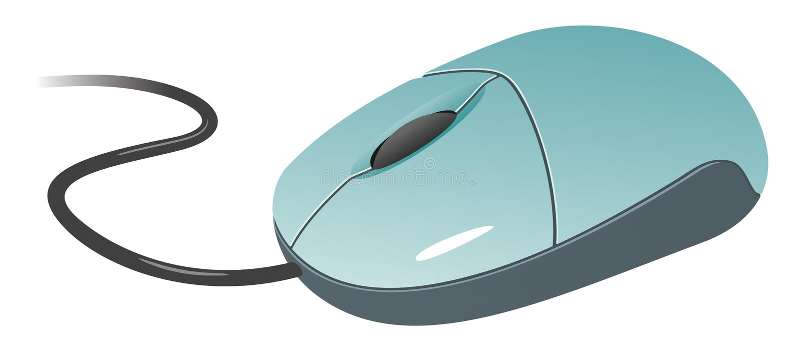 计算机鼠标 库存例证